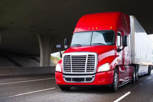 Semi truck bought through trucking business financing